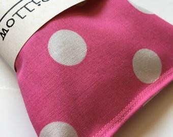 Polka Dot Lavender Eye Pillow, Bridal Shower Gift, Yoga Eye Bag, Teacher Gift, Aromatherapy Eye, Lavender Eye Mask, Sleep Mask, Yoga Gift