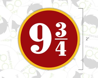 Platform 9 3/4 - Harry Potter Inspired Sticker