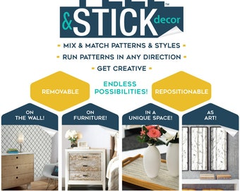 Distressed Wood Peel and Stick Wall Decor