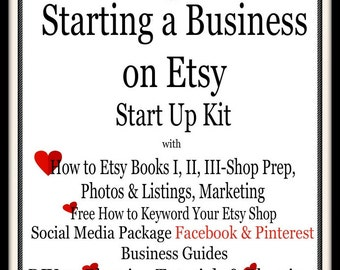 How to Sell on Etsy-Open Shop-Selling on Etsy-Complete Start Up Kit-Business-Blogging-Social Media-Keyword Research-Veteran Tips-Bonuses