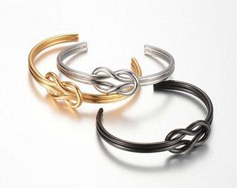 Mens Knot Bracelet, Stainless Steel Sailors Knot Bracelet Nautical Bracelet Unisex Bracelet S1