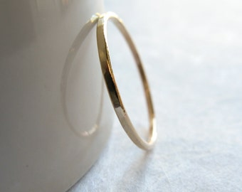 14k Solid Gold Slim Stracking Ring