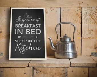 chalkboard printable, funny kitchen sign, chalkboard kitchen decor, breakfast quotes,breakfast printable, chalkboard print, INSTANT DOWNLOAD