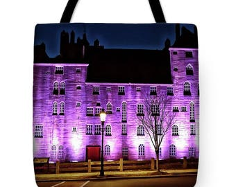 Mercer Museum, Tote Bag, Shoulder Bag, Canvas Bag, Beach Bag, Handbag, Carry All, Doylestown, Purple, Lavender