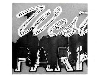 Western Parking - Pencil Drawing