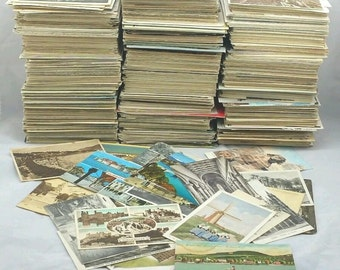 Genuine Vintage Postcards Collection /UK/Foreign/Europe/ B&W/ Colour Job Lot Mixed 1900's - 1980's (in packs of 20)