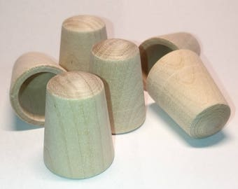 Wood thimbles unfinished 10pieces