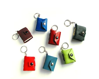Set of Three Mini Book Keychains, purse charm, book ornament, book lover