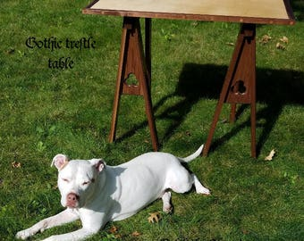 Custom-made Table Trestles - Medieval Renaissance Gothic Steampunk Fine Furniture
