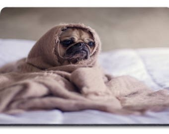 Pug in a Blanket  Mousemat