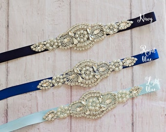 Bridal Sashes..Rhinestone Belt -Flower Girl Sash..Bridal Belt/ Sash..Bridesmaid Coordinating Sashes..Maternity Sash / Wedding Sash