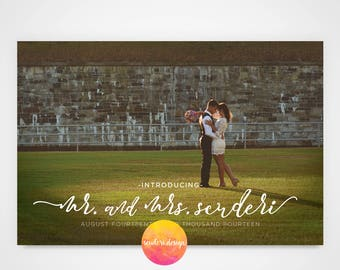Elopement Announcement Postcard/Save the Date/ Wedding Announcement / Wedding Photo Postcard / Wedding Thank you / Postcard  **PRINTABLE