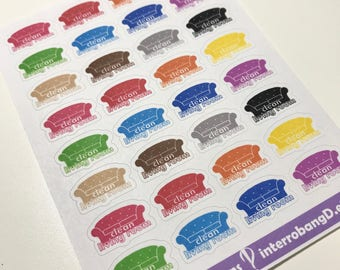 A72 - Clean Living Room - Planner Stickers