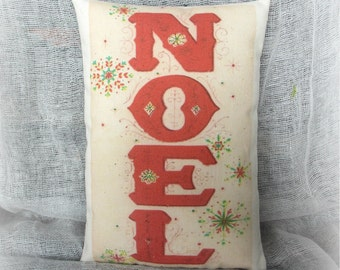 Christmas Pillow Tuck |Noel | Holiday Pillow | Holiday decor | Christmas decoration | Christmas Pillow |