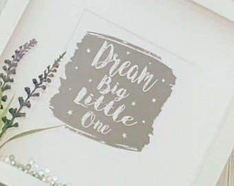 Dream Big Little One Framed Gift - New Baby Gift - Christening Gift