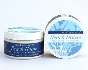 NEW- Beach House Whipped Shea Butter Body Cream -anti-oxidant rich - Vegan and Cruelty Free - 95% natural