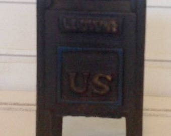Vintage Small Cast Iron Coin Slot Mailbox