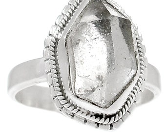 Herkimer Diamond Ring in Sterling sz 9