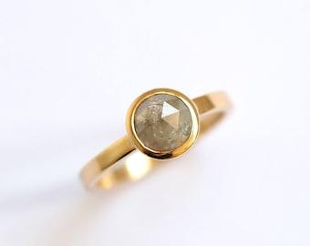 Diamond Ring, Rose Cut, Rose Cut Diamond, Engagement Ring, Handmade Ring, Gold Ring, Wedding ring, Ring, Engagement, Natural Diamond