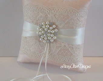 Wedding Pillow Lace, Ring Pillow for Wedding, Ring Cushion, Wedding Ring Bearer Pillow, Unique Ring Pillow, Wedding Ring Pillow, Custom Made