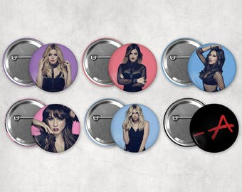 1.25in Pretty Little Liars Buttons
