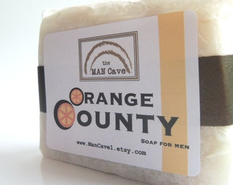 SOAP for Dudes - ORANGE COUNTY - Handmade with Organic Oils and Shea Butter by Man Cave Soapworks