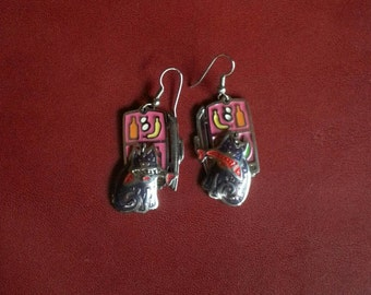 Berebi Cat Earrings Rare Vintage