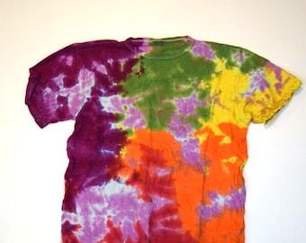 Impressionism Tie Dye T-Shirt  (ONNO 55/45 Hemp/Organic Cotton Size L) (One of a Kind)