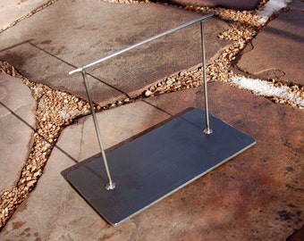 Jewelry Display Stand Metal Natural Steel - THIN LINE STAND