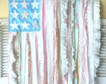 "Sewing Pattern PDF Americana Cottage Style Flag Wallhanging PATTERN - 36"" x 45"""