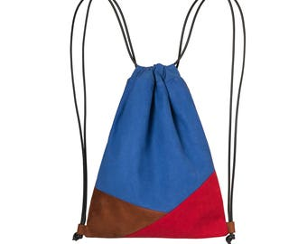 Double face multicolored backpack