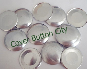 50 Cover Buttons Size 60  (1 1/2 inch) - Flat Backs