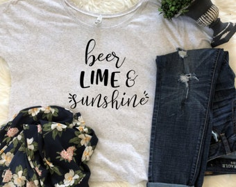 beer lime and sunshine slouchy scoop neck