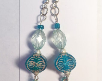 Aqua colored earrings