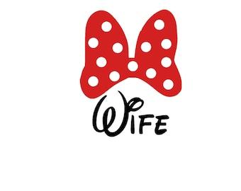 Wife Honeymoon Wedding Disney Iron On Vinyl Decal