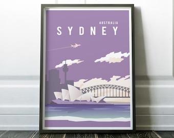 Sydney Poster, Sydney Print, Sydney Art, Wall Art Prints, Australia Poster, Minimalist Print, Sydney Gift, Australia Gift, Travel Poster