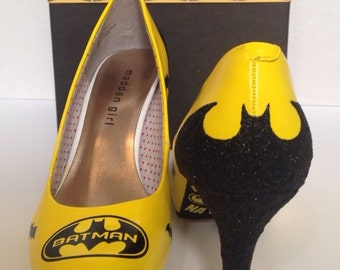 BM Comic Heel Shoes. Custom Made to Order