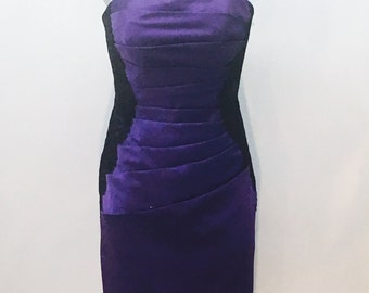 Purple dress, Satin Formal Dress, Purple Bridesmaid dress, Purple prom dress, Holiday dress, NWT. Sizes 2,6,8,10,12 and 20 available.