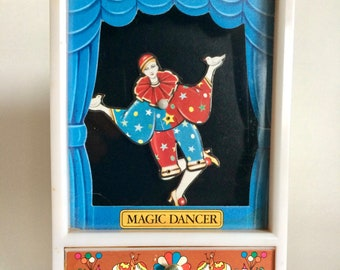 Vintage Magic Dancer Dancing Circus Clown Wind Up Music Jewelry Box You Light Up My Life