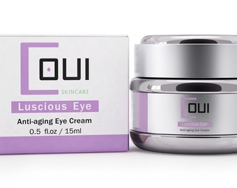 LUSCIOUS EYE CREAM Gel Under Eye Moisturizer - All In One Product For Dark Circles, Puffiness and Wrinkles - Paraben Free Anti Aging Chrysin