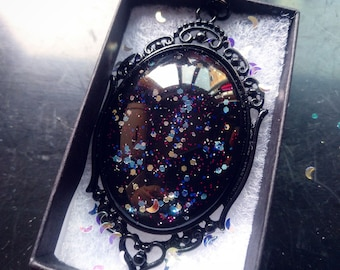Mercury Gothic Necklace - Black gift box included