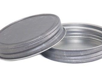 12 pcs Antique Pewter Mason Jar Lid for Regular Mouth Mason Jars