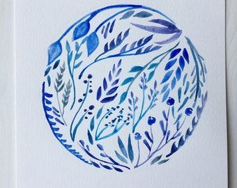 Neptune Floral Watercolor