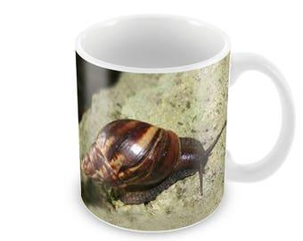 Giant African Land Snail Ceramic Coffee Mug    Free Personalisation