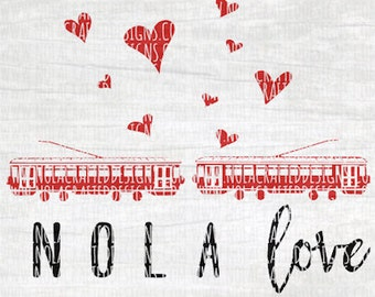 New Orleans Svg Cut File - Valentines Svg Cut File - Nola Svg Cut File - Mardi Gras Svg Cut File - Png - Louisiana Svg Cut File