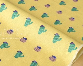 Japanese Fabric Cactus Hats - yellow - fat quarter