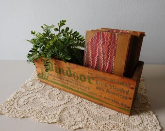 Vintage wood cheese box Windsor wooden box