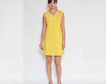 Vintage 60's Yellow Mod Dress
