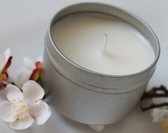 Soy Wax Candle- Soy Travel Candle, Wedding gifts, Bridesmaids Gifts, Orange Blossom Soy Candle 4oz For the Home