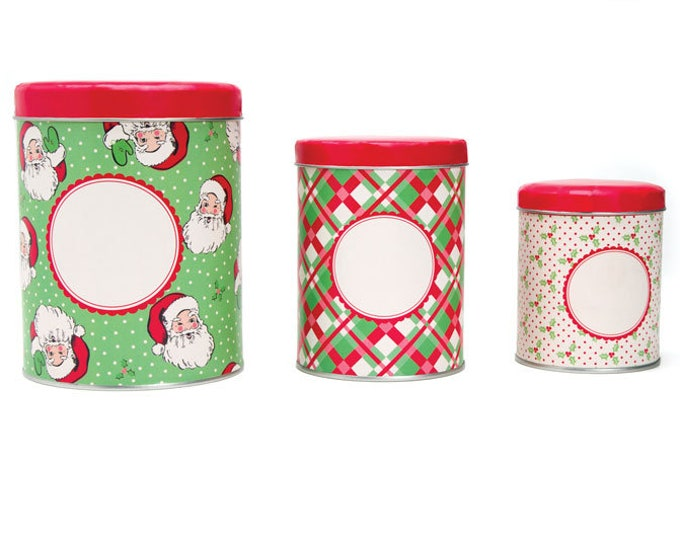Featured listing image: Swell Christmas Set of 3 Nesting Tins